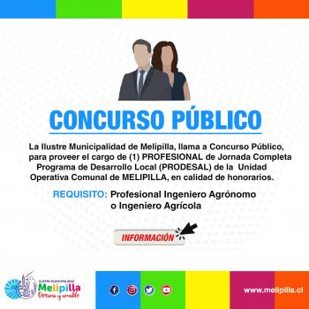 CONCURSO PÚBLICO ING. AGRICOLA