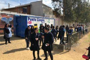 Demostracion reciclaje colegio Ercilla