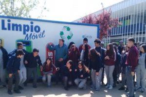 Demostracion reciclaje colegio San Sebastian
