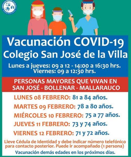 VACUNACION COLEGIO SAN JOSE