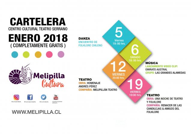 CARTELERA PARA REDES SOCIALES ENERO 2018